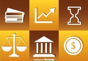 Ícones do Banco Branco vetor