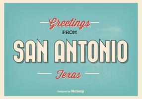 San antonio texas greeting illustration vetor