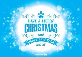 Ilustração belo do cumprimento do Natal do estilo de Bokeh vetor
