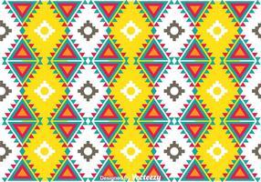 Padrão Asteca Colorido vetor
