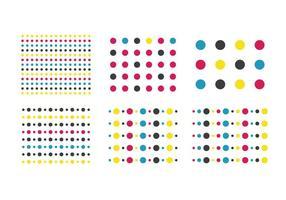 Padrão de ponto colorido grátis vetor