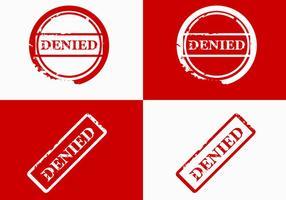 Projeto de vetor de selo negado