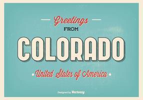 Ilustração de cumprimentos de Colorado vetor