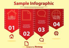 Vetores vermelhos simples de infografia