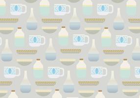 Padrão de vetor de vasos e copos