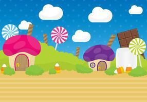 Vector de paisagem de doces
