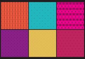 Padrões de pontos coloridos vetor