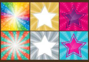 Fundo de estrelas coloridas vetor