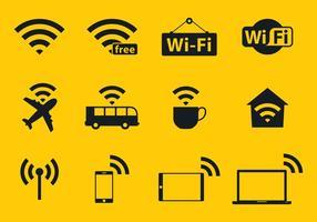 Ícones do vetor Wi-Fi