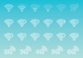 Ícones transparentes Wi-Fi vetor