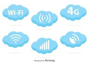 Vetores do logotipo da nuvem Wifi