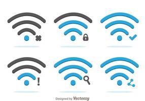 Vetores do logo wifi flat