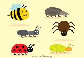Conjunto de vetores de insetos