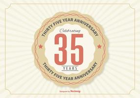 Ilustração de aniversário de 35 anos vetor