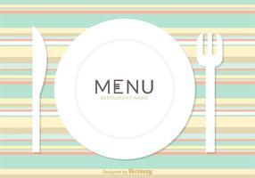 Cardápio de menu de cardápio de cardápio gratuito design vetorial vetor