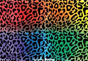 Vetor de padrão de leopardo colorido