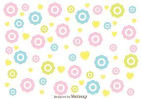Vetor de padrões femininos de flores coloridas
