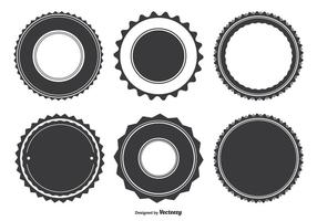 Formas de distintivo variadas vetor