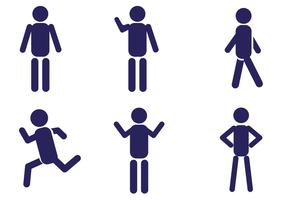 Conjunto de vetores do ícone do homem