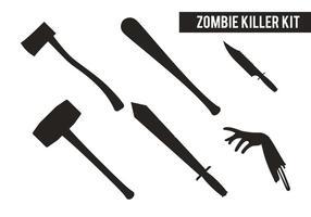 Kit assassino zombie vetor