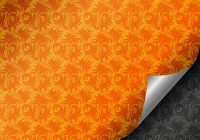 Vetor de página de damasco ondulado grátis