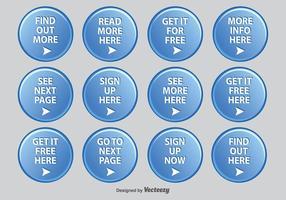 Round Web Set de ícones vetor