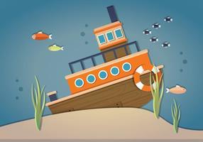 Vetor Sunken Ship