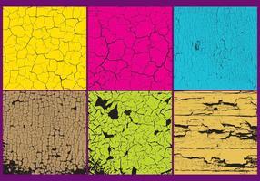Vetores de textura de tinta rachada