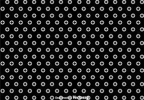 Padrão de bolinhas preto e branco vetor