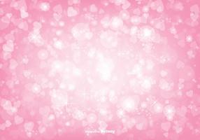 Ilustração cor-de-rosa bonita do fundo dos corações de Bokeh vetor