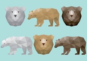 Vetores de urso poligonal