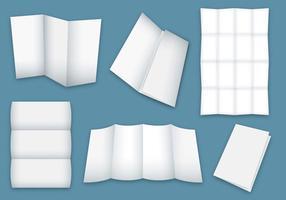 Vetores de folhetos dobrados em branco