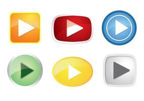Vetores coloridos do ícone do botão de jogo