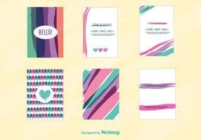 Modelo do cartão de convite de amor vetor