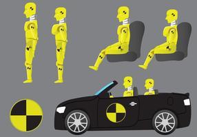 Os vetores do robô Dummy Crash