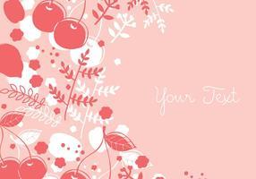 Design de fundo floral de cereja vetor