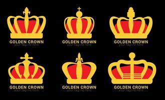 Vetores do logotipo da coroa