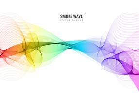 Vetor de onda de linha de fumaça colorida