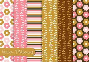 Conjunto de padrões de chocolate rosa vetor