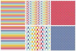 Conjunto de padrões coloridos vetor