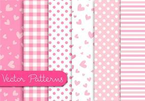 Padrões rosa romanticos vetor