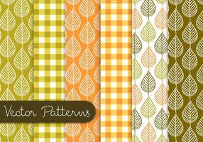 Conjunto de padrões de folhas