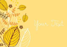 Design de fundo de outono vetor