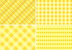 Fundo de pano de tabela amarelo Vector grátis