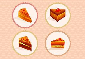Fatias de vetores de bolos