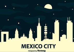 Horizonte da Cidade do México no vetor da noite