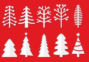 Vetores de papel da árvore de natal