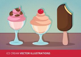 Ilustração vetorial gelada vetor