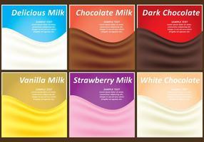 Vetores de modelo lácteo