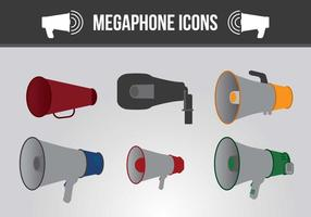 Vetores de ícones de megafone